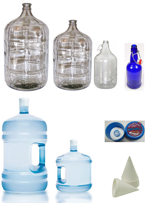 Containers - Water and Essential Oils