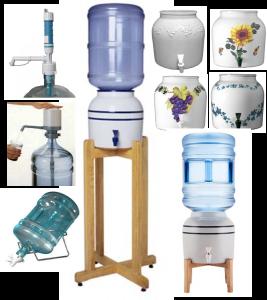 Water Bottle Pumps, Dispensers, Crocks & Stands