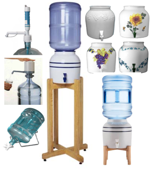 Water Bottle Pumps, Dispensers, Crocks & Stands