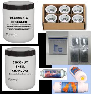 Distiller Supplies Descaler & Charcoal
