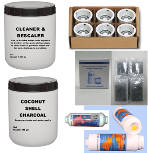 Distiller Supplies Descaler & Charcoal