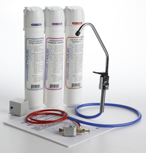 Waterite's Vectapure 360 3 stage UF water filter system