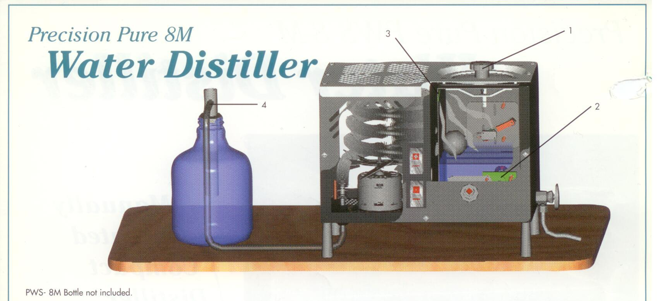 Precision Water Distiller Model 8-M