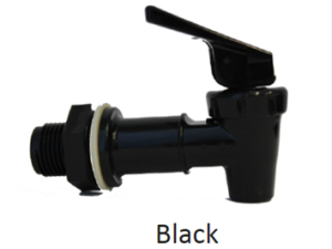 Faucet, black, for ceramic crock dispenser