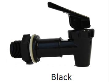 Faucet, black, for ceramic crock dispenser