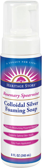 Colloidal silver Foaming Soap 240ml Rosemary Spearmint