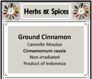 Herb - Cinnamon ground