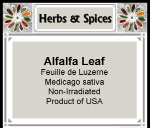 Herb - Alfalfa Leaf