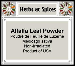 Herb - Alfalfa Leaf Powder
