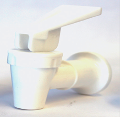 Faucet for water cooler white/white 3/8FTx1/2fp