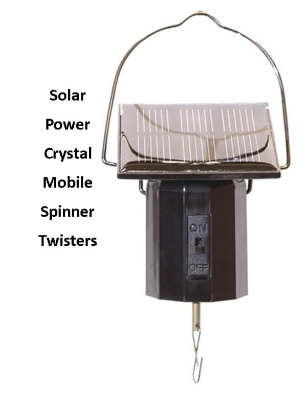 Solar Power Crystal Spinner