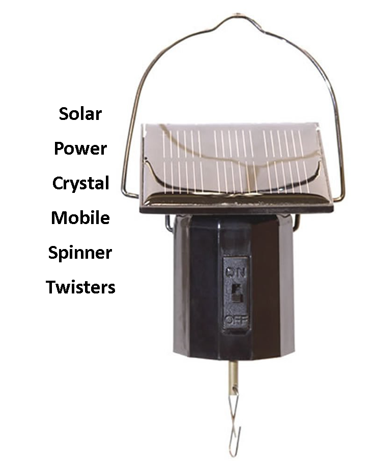 Solar Power Crystal Spinner