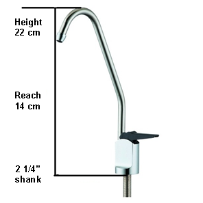 "Faucet Long Reach 1/4"" Black Leaver"