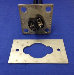 Heating element end plate