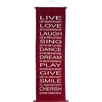 Banner Live, Love, Laugh