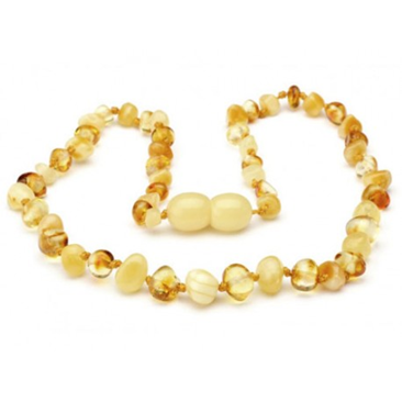 Amber Necklace 11 inch Cream Gold