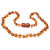 Amber Necklace 11 inch Caramel or congac
