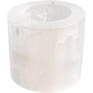 Candle Holder Selenite 2.25
