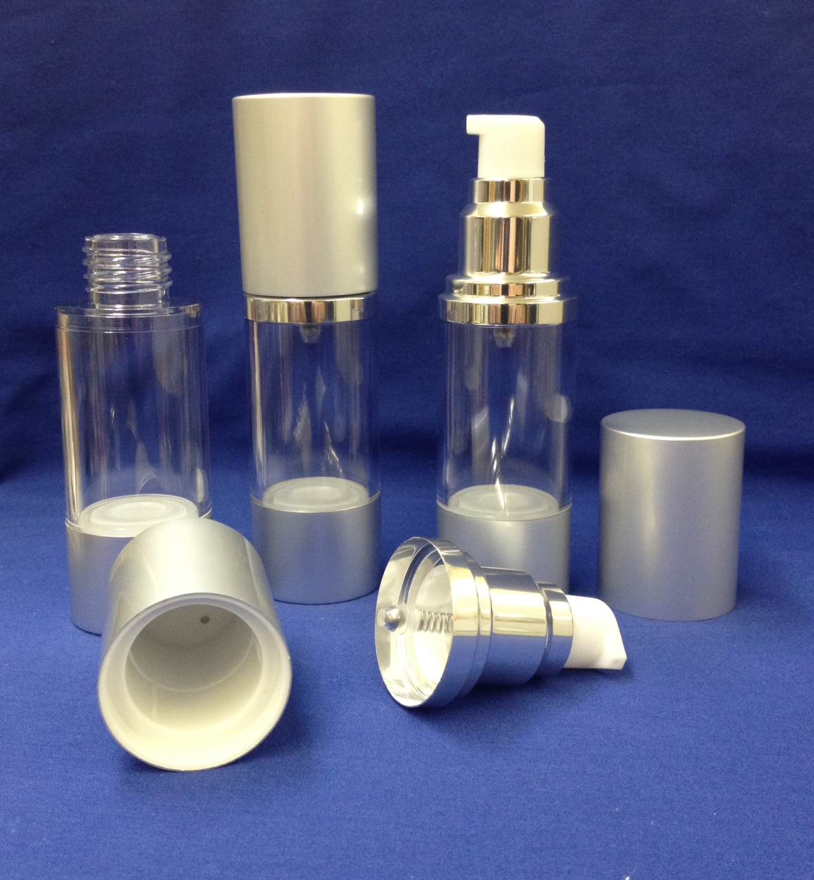 Air Less Pump - 30 ml silver