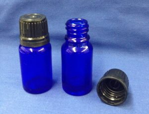 10 ml blue bottle glass with cap