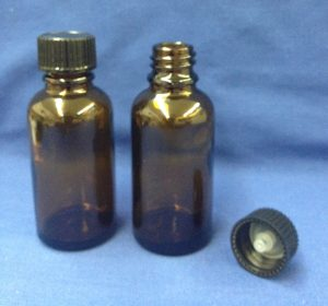 30 ml amber bottle glass with cap