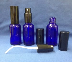 30 ml Blue Glass Bottle with spray