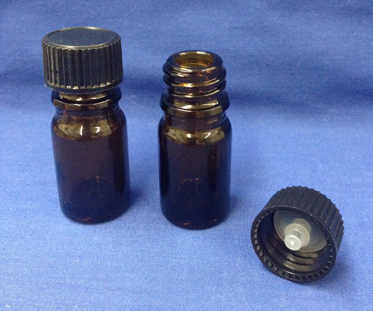 5 ml amber bottle glass with cap