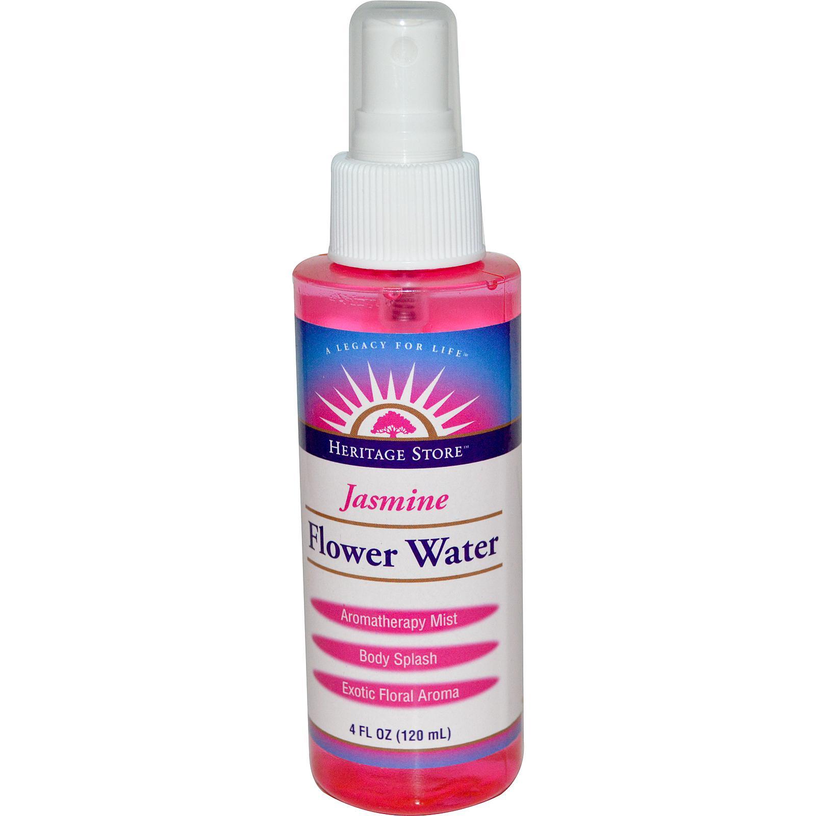 Heritage Store Jasmine Flower Water  4oz 120ml