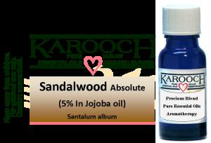 Essential Oil Sandalwood 5% in Jojoba oil 15 ml