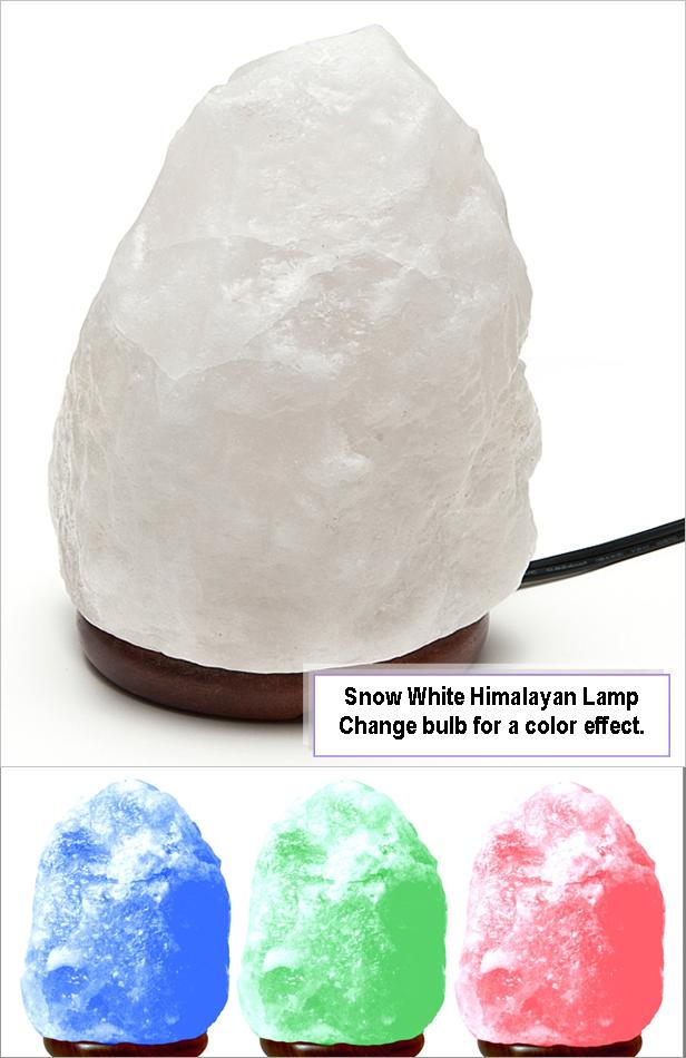 Lamp Himalayan Salt Large -Snow White