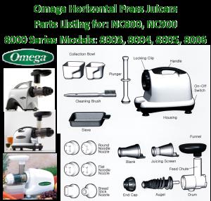 Parts Omega 8003/8004/8005/8006/NC800/NC900/8226