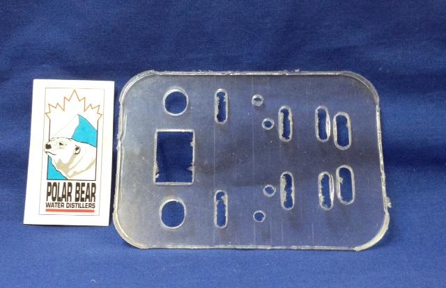 Part Microswitch Plate Lexan Polar Bear