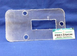 Part Reset Switch Plate Lexan Precision