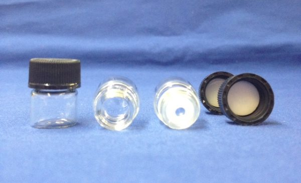 1/4 dram  Clear Glass Vial with cap