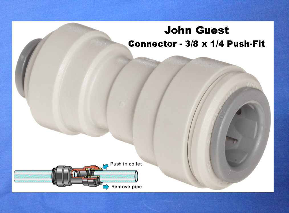 John guest reducing union connector quot push fit