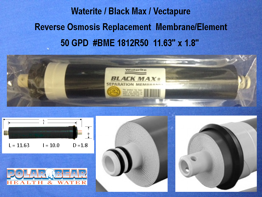 Filter Membrane BlackMax Waterite 50 GPD