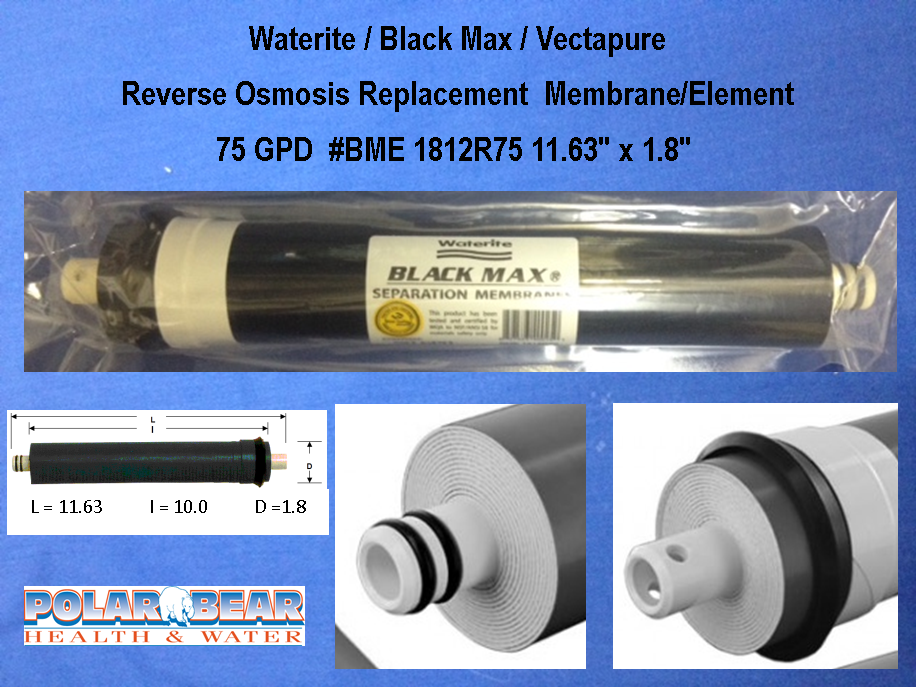 Filter Membrane BlackMax Waterite 75 GPD