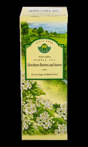 Herbaria Hawthorn Flowers and Leaves 25 tea bags