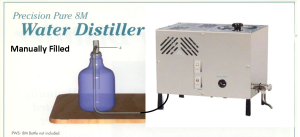 Precision Pure Water Distiller - Model PWS 8-M