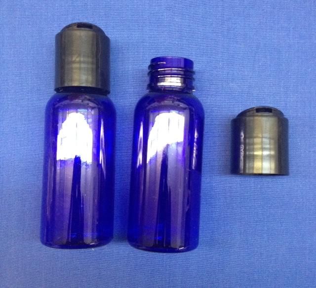 60 ml Blue PET Plastic Bottle with Disc Cap