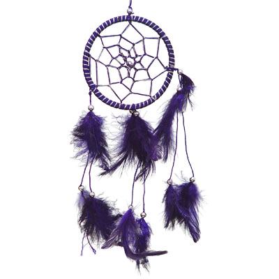 Dreamcatcher Small Purple Feathers #30019