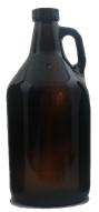 Bottle Glass Jug Amber 1/2 gallon/2liters