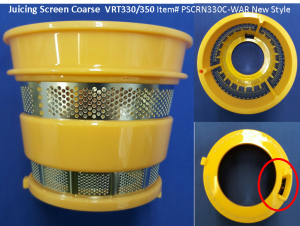 Juicer Part Screen Coarse Yellow VRT330/350