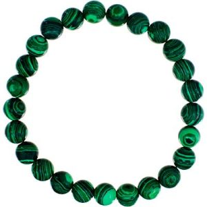 Gemstone Bracelet Reconstituted Malachite