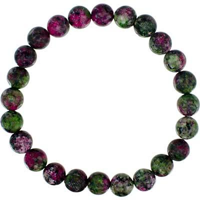 Gemstone Bracelet Ruby Zoisite