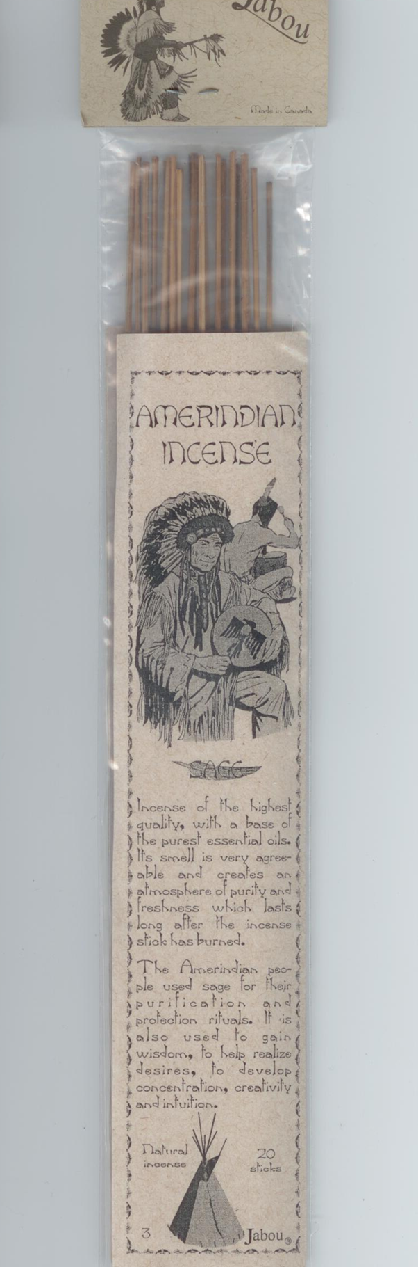 Incense Native Sage 20 sticks
