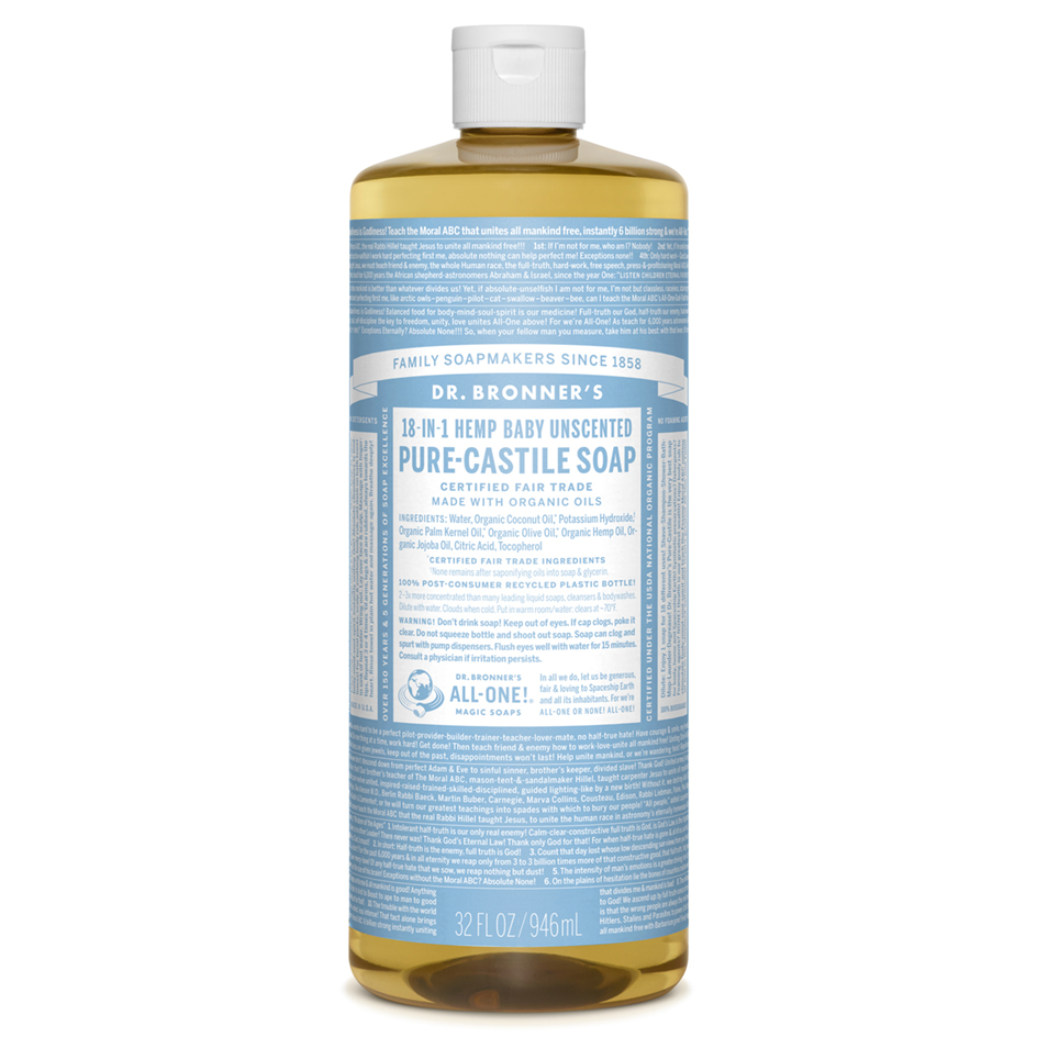 Dr Bronners Castille Liquid Soap 946 ml