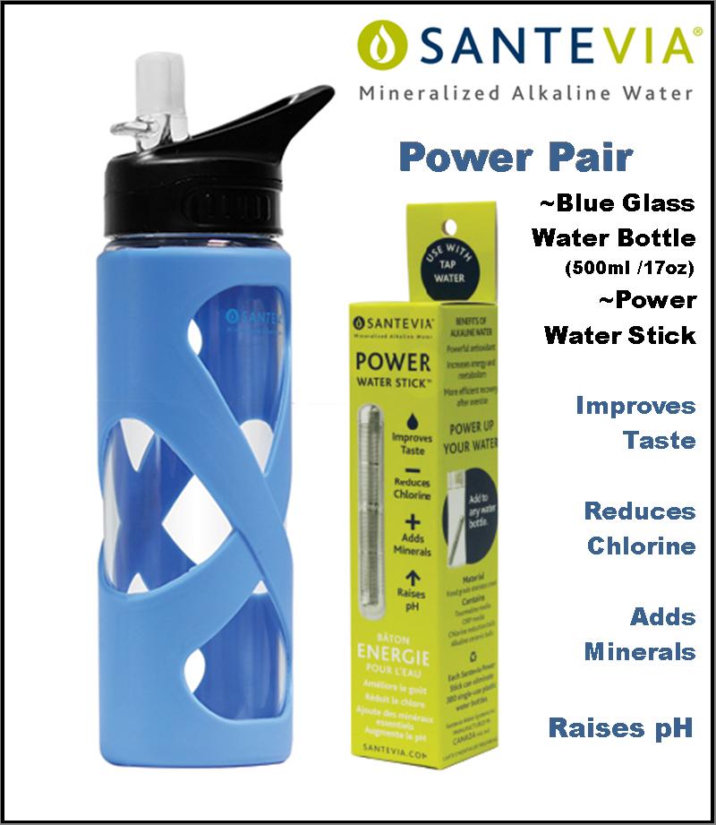 Santevia Pair Power Stick&Glass 15oz Blue