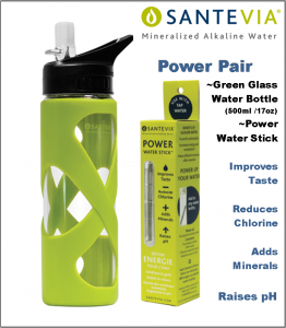 Santevia Pair Power Stick&Glass 15oz Green
