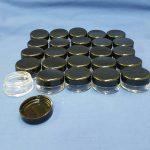 5 ml plastic Jar and Lid - 25 pack